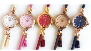 Julius  New Elegant Lady Tassel Watch Japan Quartz