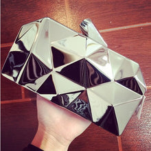 The Metallic Hexagon Party Clutch
