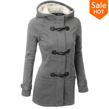 Hooded Horn Button Causal Coat
