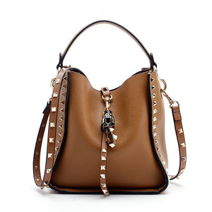 Genuine Leather Luxury Studded Bag