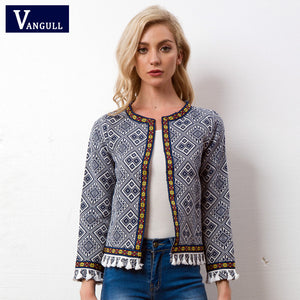 Tribal Embroidered Fringe Jacket