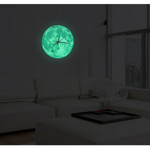 Glowing Moon Wall Clock Moon.