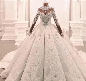 Luxury Crystal Rhinestone Wedding Dress