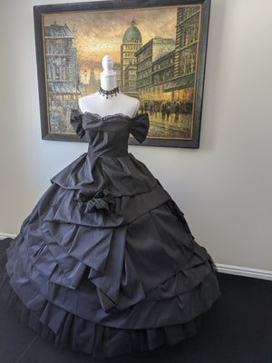 Gothic Victorian Dress - 1860s Inspiration Gothic Evening Gown