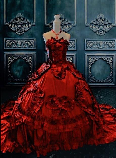 Rose Red 18th Century Inspired Gothic Victorian Gown