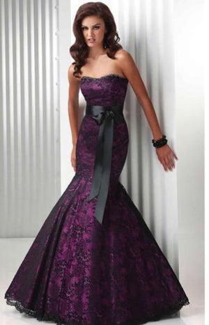Purple and Black Gothic Gown