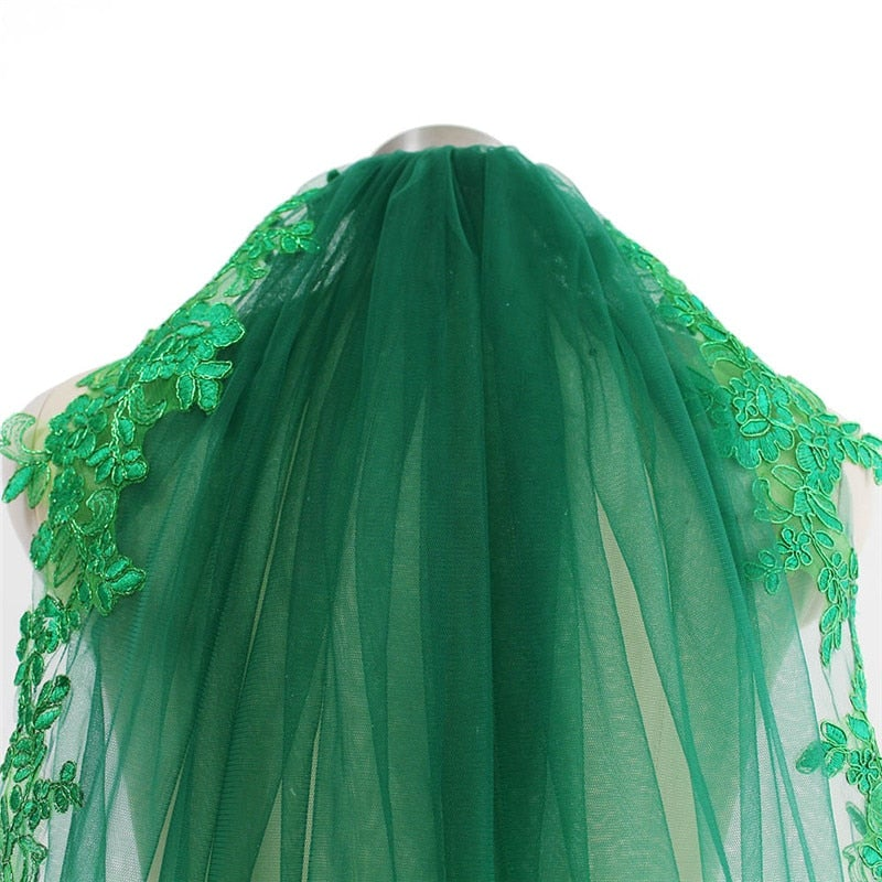 Green Wedding Veil