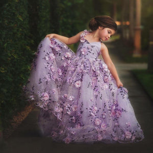 New Pretty Floral Lace Pageant Dress