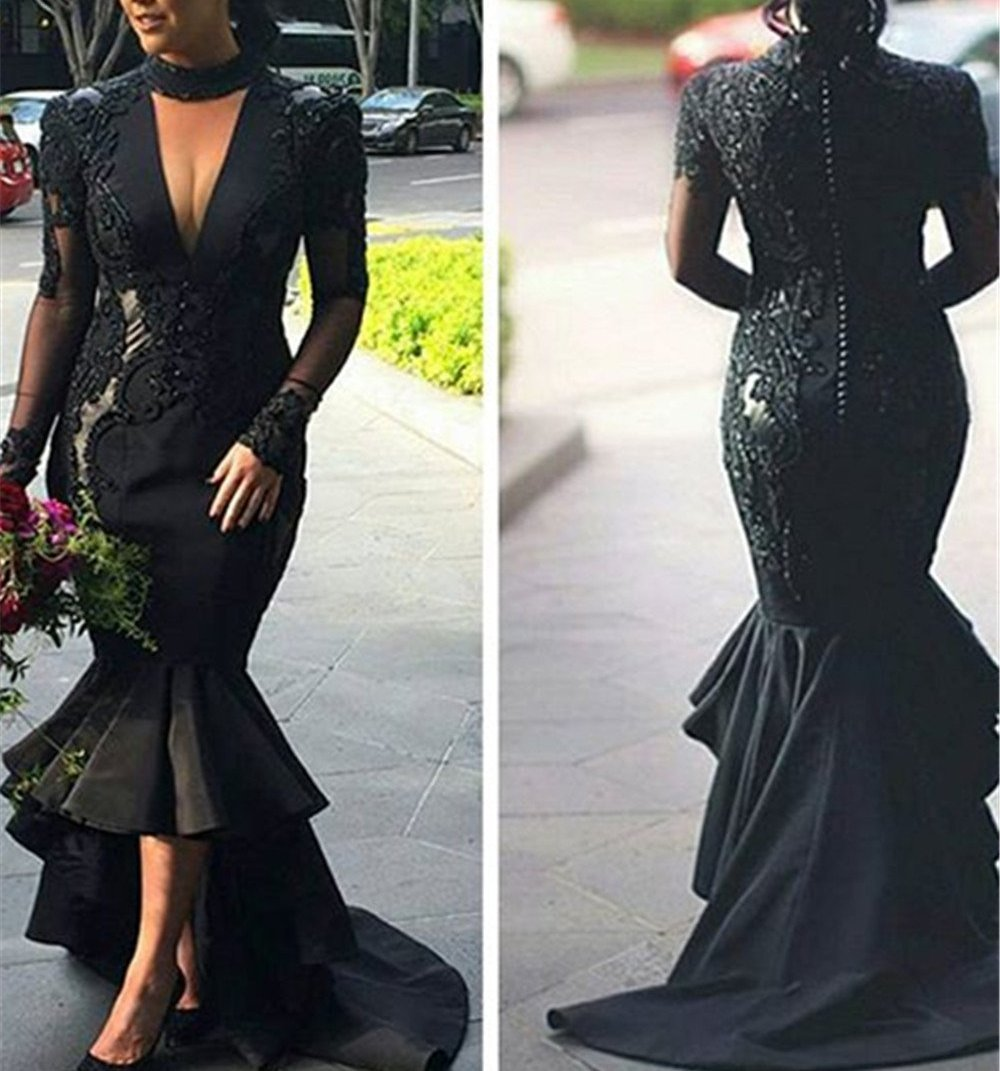 Black Mermaid Formal/ Wedding Dress