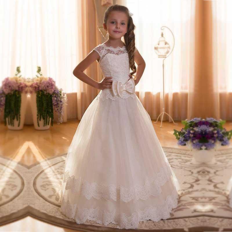 A-Line Flower Girls Dress