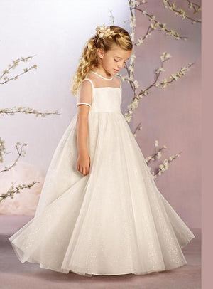 Transparent Lovely Flower Girl Dress