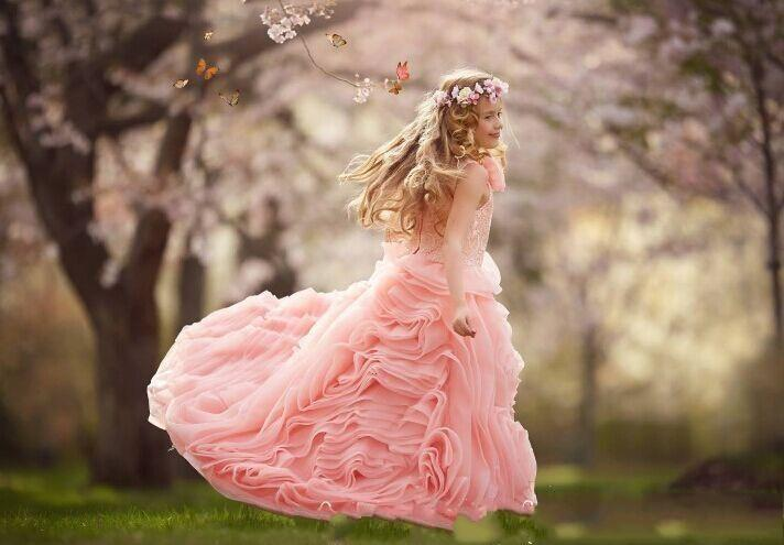 Pink Ruffles Flower Girl Dress