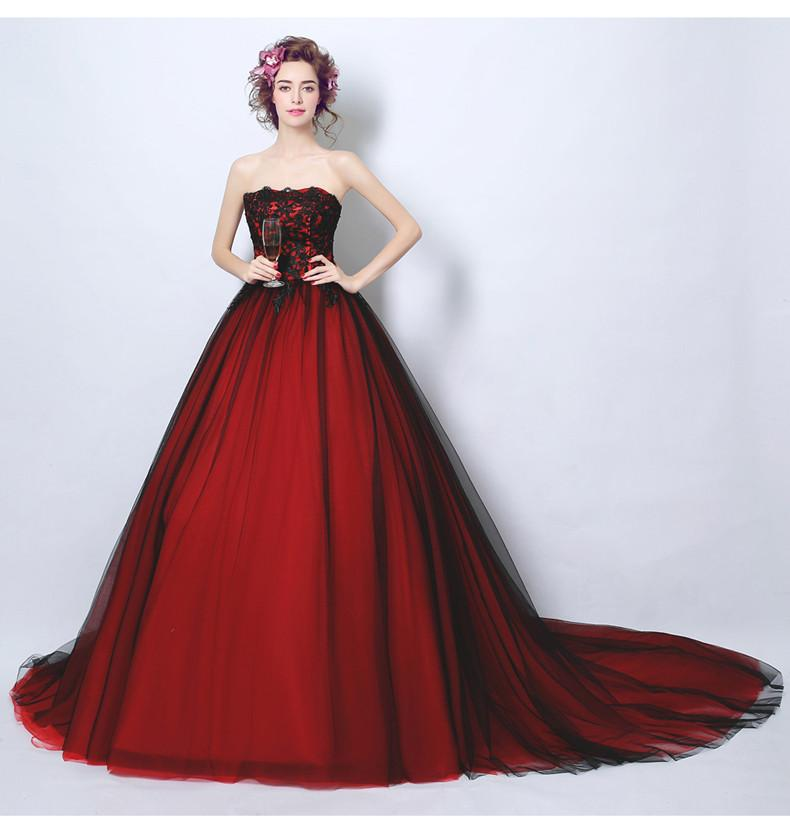 Gothic  Colorful Vintage Princess Wedding Gowns