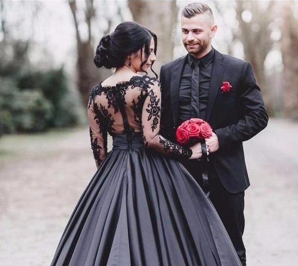 Black Gothic Ball Gown