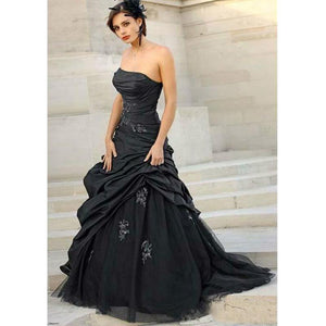 Vintage Black Wedding Dresses