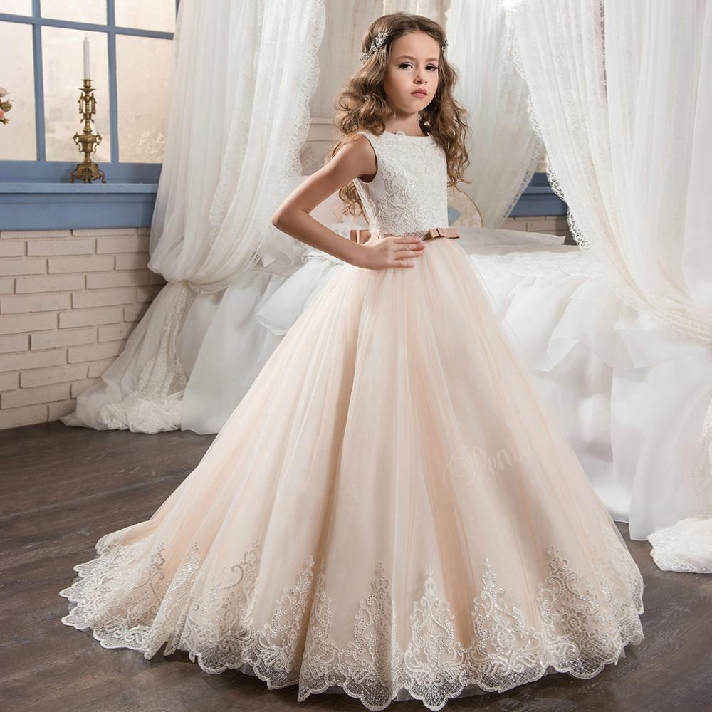 Clearance *****Girls Lace Ball Gown