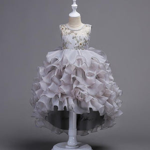 High Low Ruffled Flower Girls Dress (Color Options)