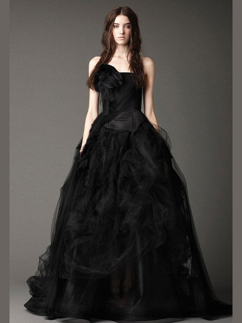 Strapless Puffy Gothic Gown