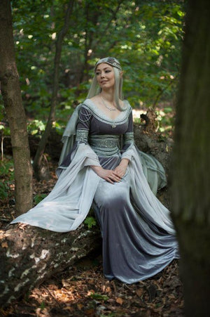 Silver and Gray Forest Fairy Dress