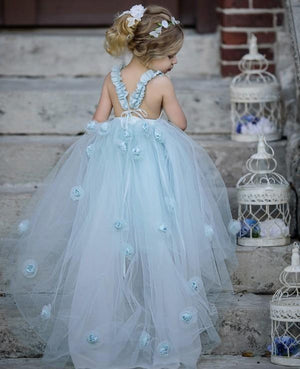 Precious Blue Flower Tutu Dress