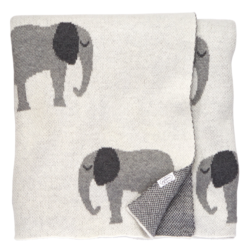 Elephant Knit Blanket