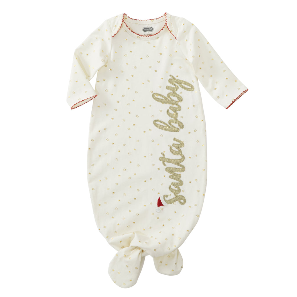 Santa Baby Sleep Gown: 0-3M