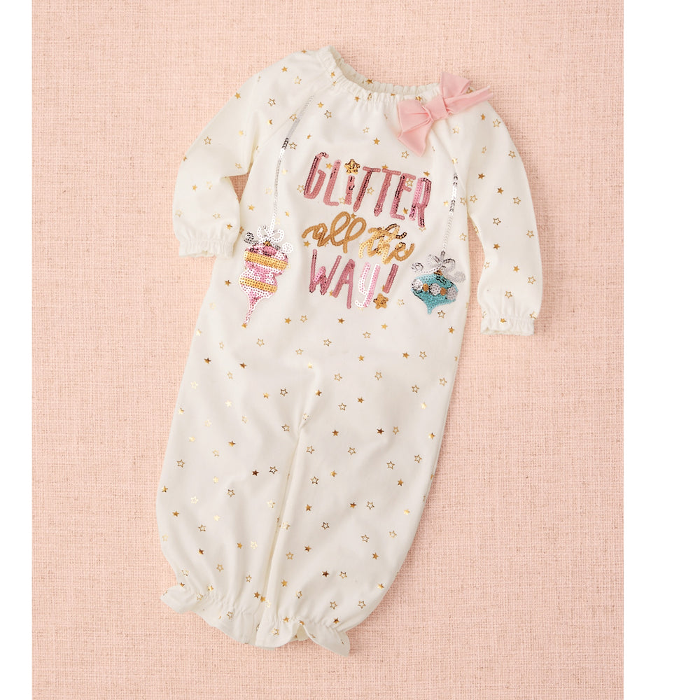 Glitter All The Way Gown: 0-3M