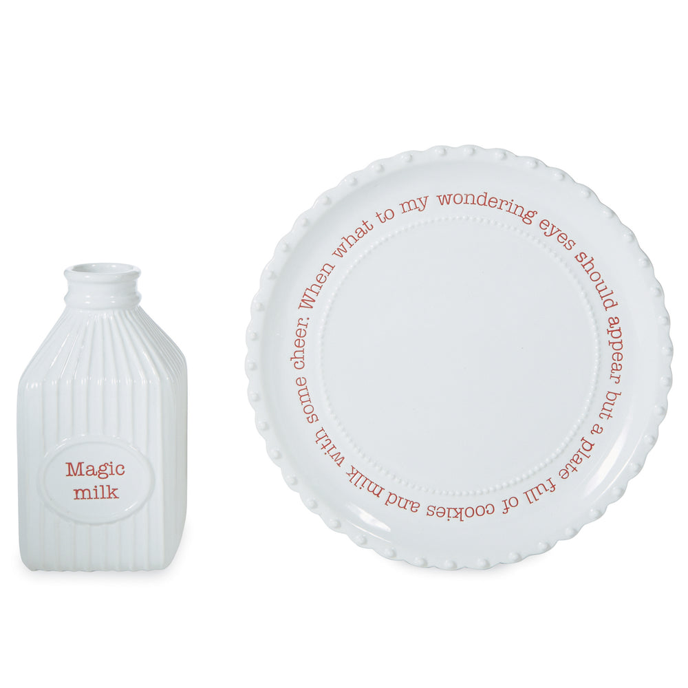 Ceramic Milk & Cookie Set