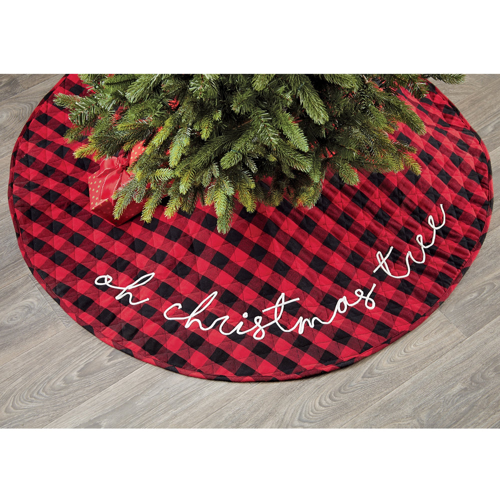 Buffalo Check Tree Skirt