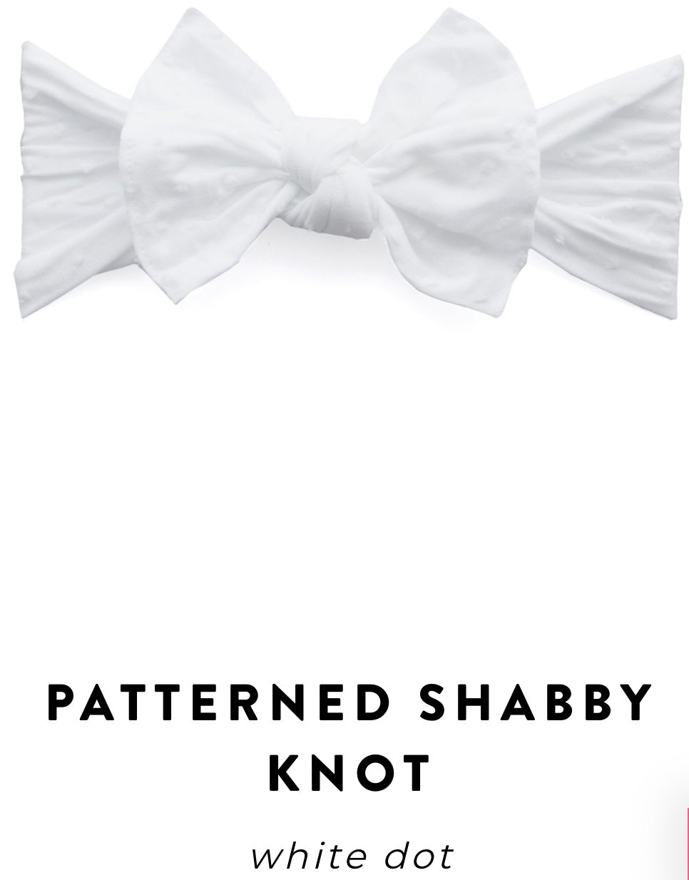 Shabby White Dot