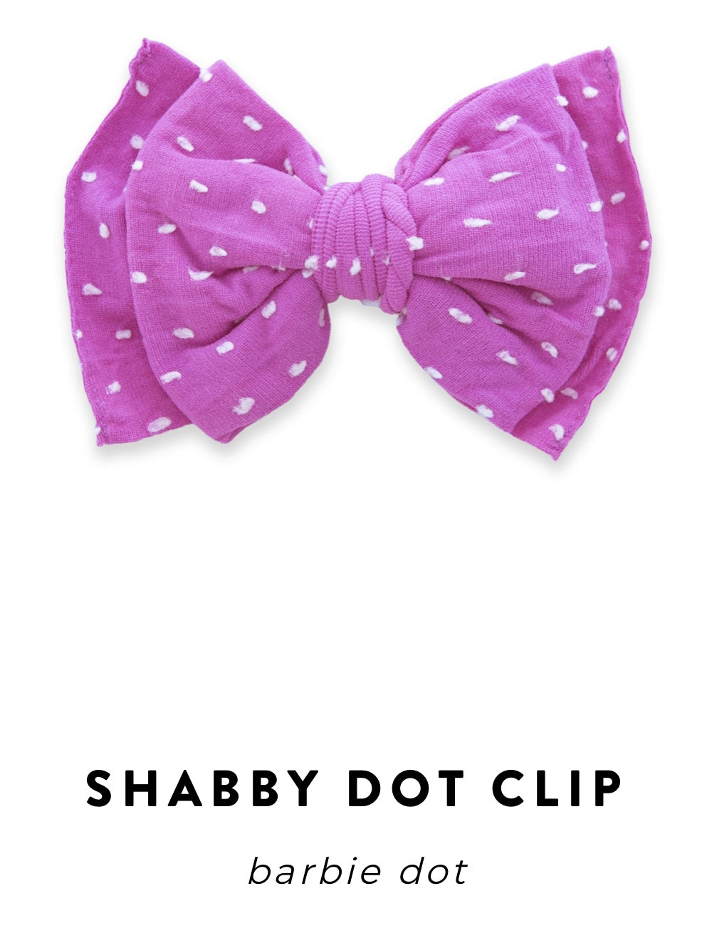 Baby Bling Bow: Shabby Dot Clip