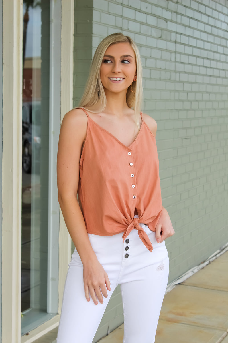 Madi Button Tank