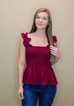 Team Smocked Peplum Tank