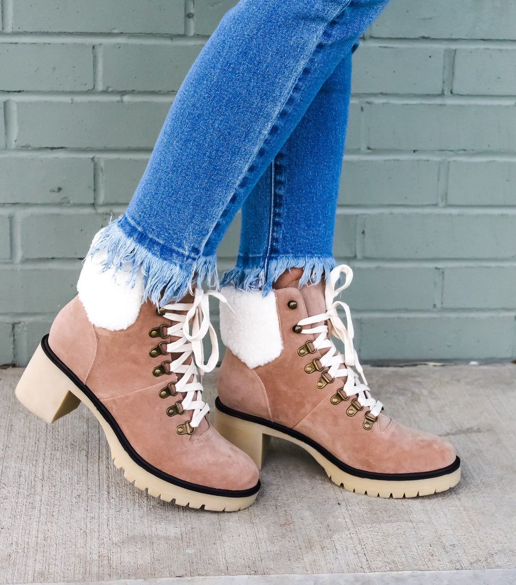 Monroe Lace Up Booties