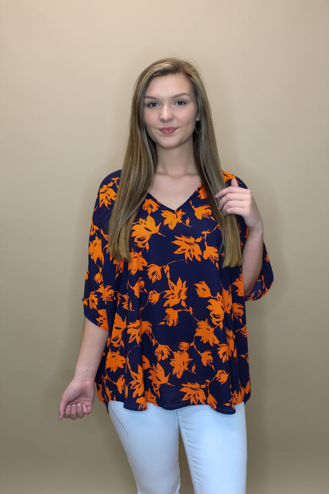 Game Day Floral Oversized Top