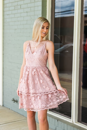 Mandi Tiered Lace Dress