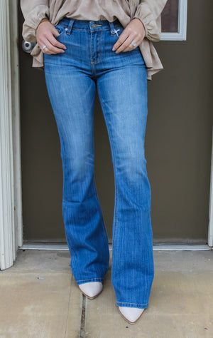 Haley Mid Rise Flare Jeans