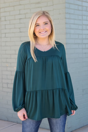 Tiered Knit Tunic Top