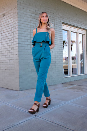 From The City Belted Jumpsuit