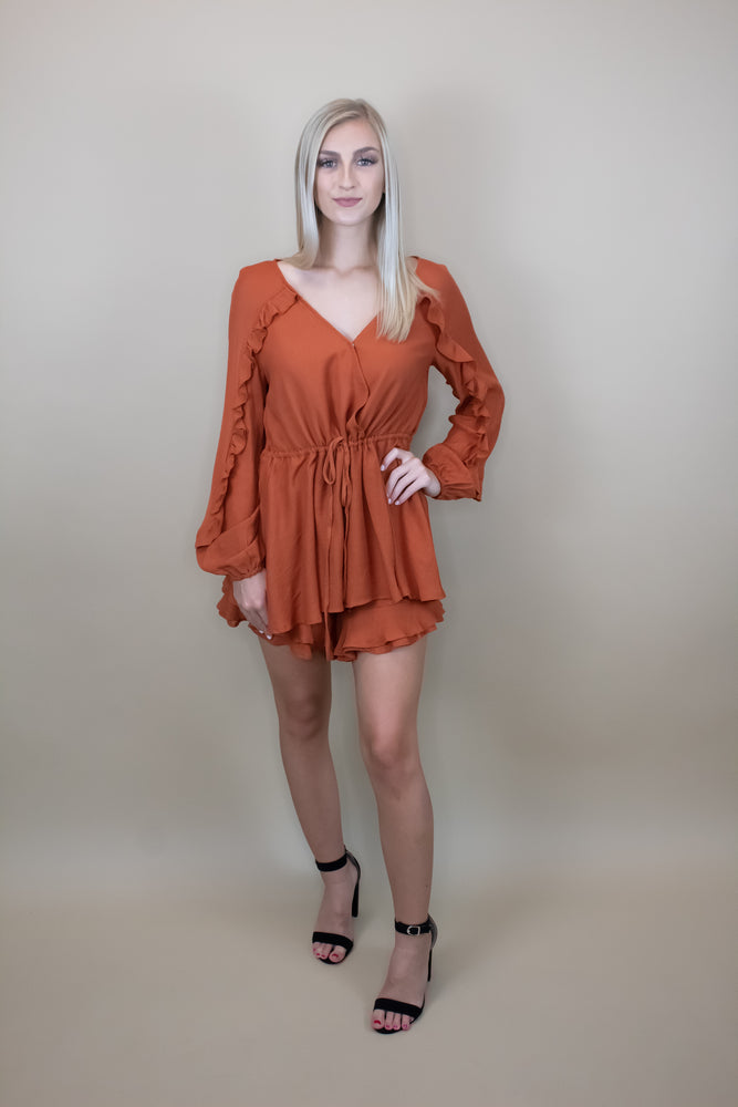 When Leaves Fall Rust Romper