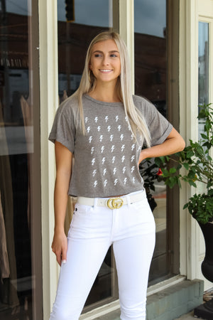 Lightning Bolt Crop Top