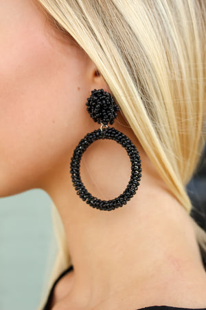 Black Seeded Earring