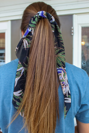 Tropical Scrunchie Scarf