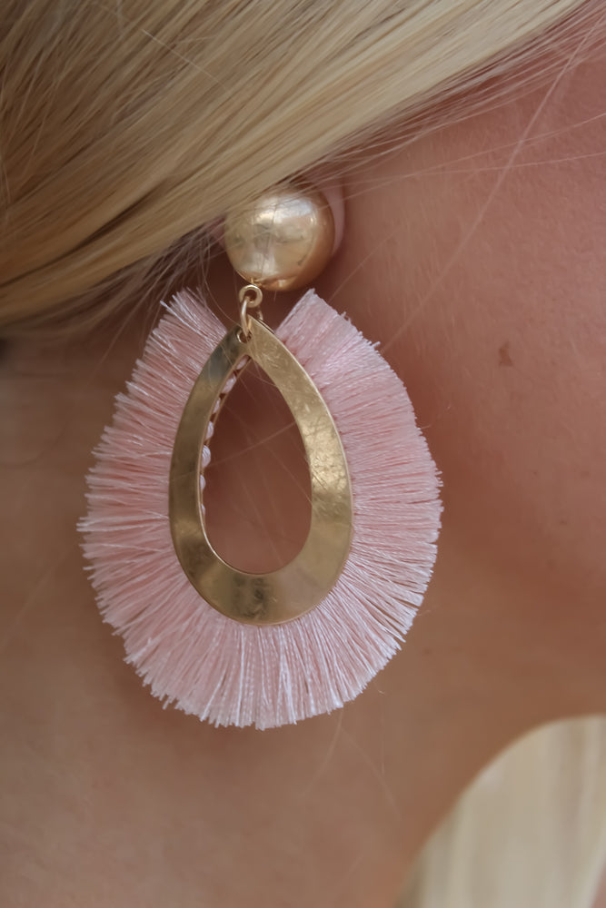 Fringe Oval Earrings