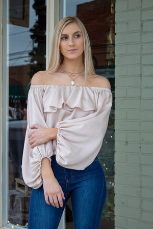 Shine All Night Off the Shoulder Top