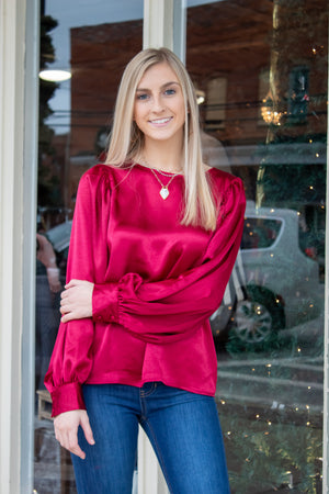 Scholarly Charm Silk Blouse