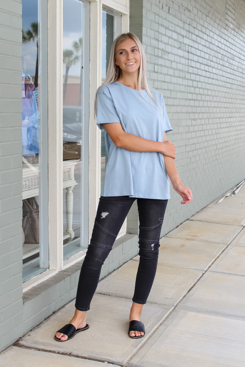 Oversized Reverse Seam Washed Tee