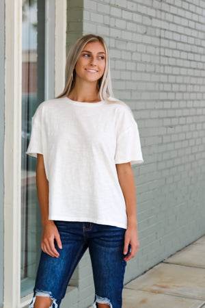 Oversized Crew Neck Washed Tee