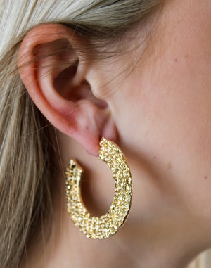 Jack Textured Flat Post Earrings