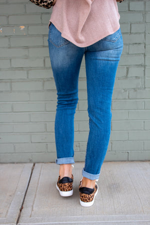 Karlee Button Down High Rise Skinny